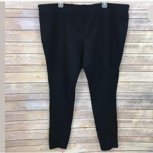 7b3d741c867 Ava   Viv Pants - Ava   Viv Ponte Pants Black Plus Size 3X Stretch